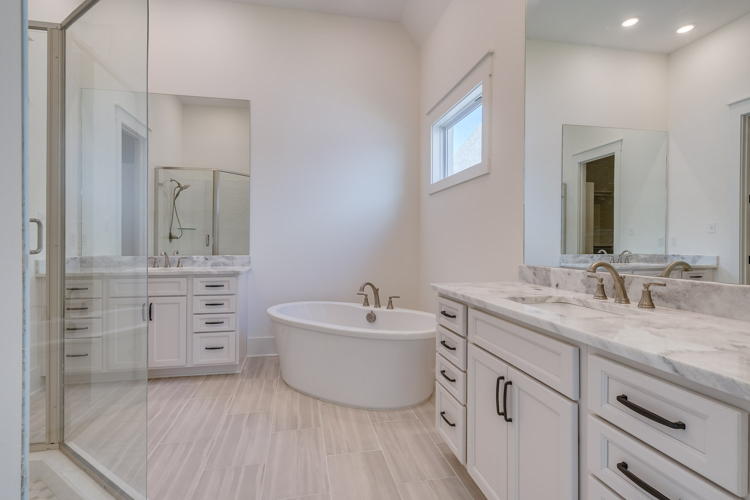 bathroom in home by OakRun Homes