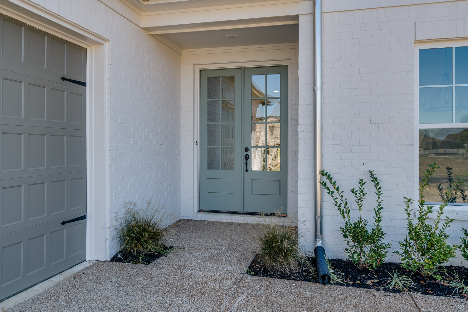 front door of home by OakRun Homes