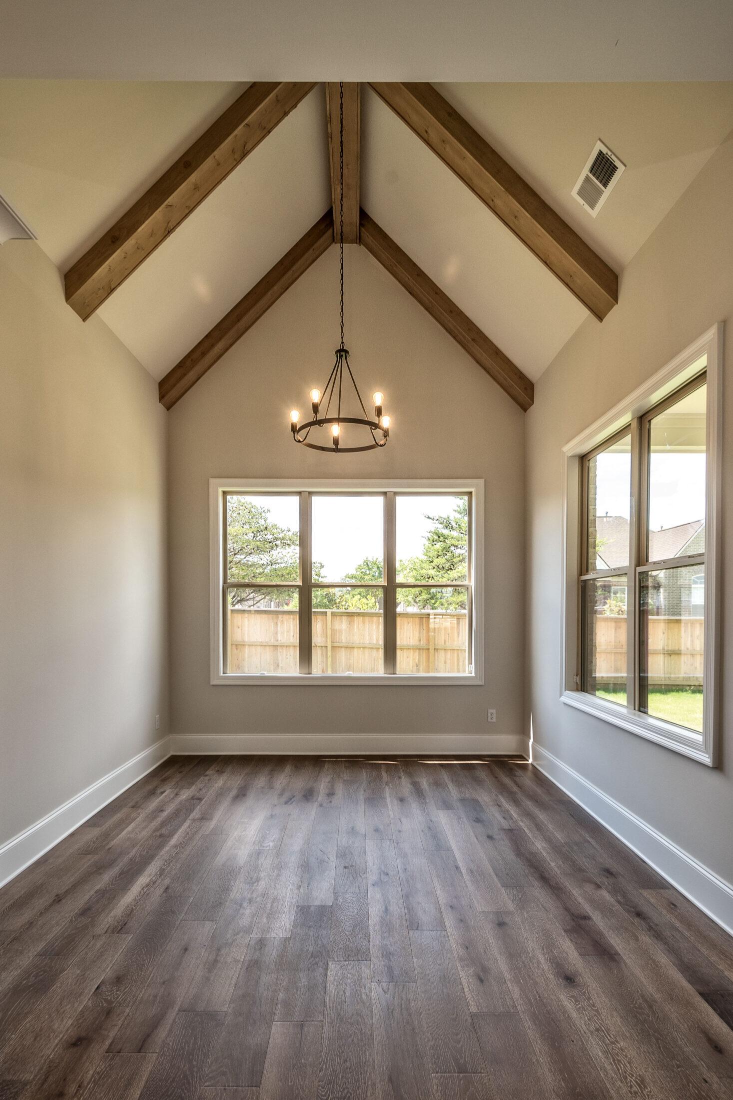 Vaulted ceilings in custom home